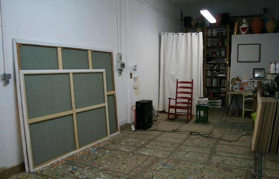 El taller de Antonio Ballester Moreno. Madrid, 2017. Foto: Alejandra Villasmil