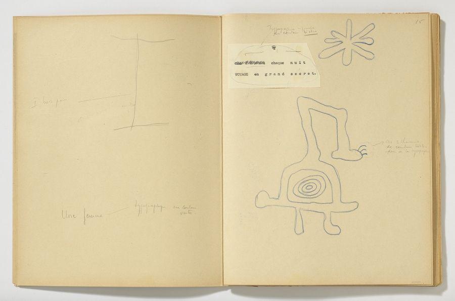 Maqueta sin numerar, 1949. Poema 1 de 'L'univers solitude'. Fundació Joan Miró. © Successió Miró, 2017. Foto Gasull