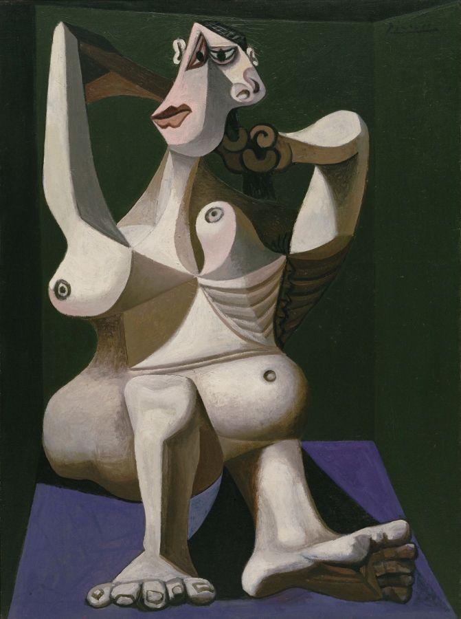 Pablo Picasso, Mujer peinándose, 1940. Colección de MoMA. (c) Sucesión Picasso. VEGAP, 2017