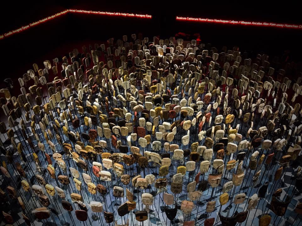 Werken, Bernardo Oyarzún.  Chile pavilhão na 57ª Bienal de Veneza de 2017. Foto: Adrian Guitierrez Villanueva