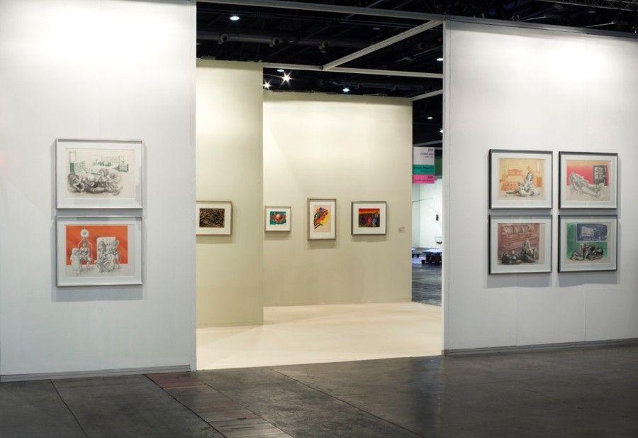 Stand de Cosmocosa, Buenos Aires, con obras de Antonio Berni. Feria arteBA 2017. Cortesía: Cosmocosa