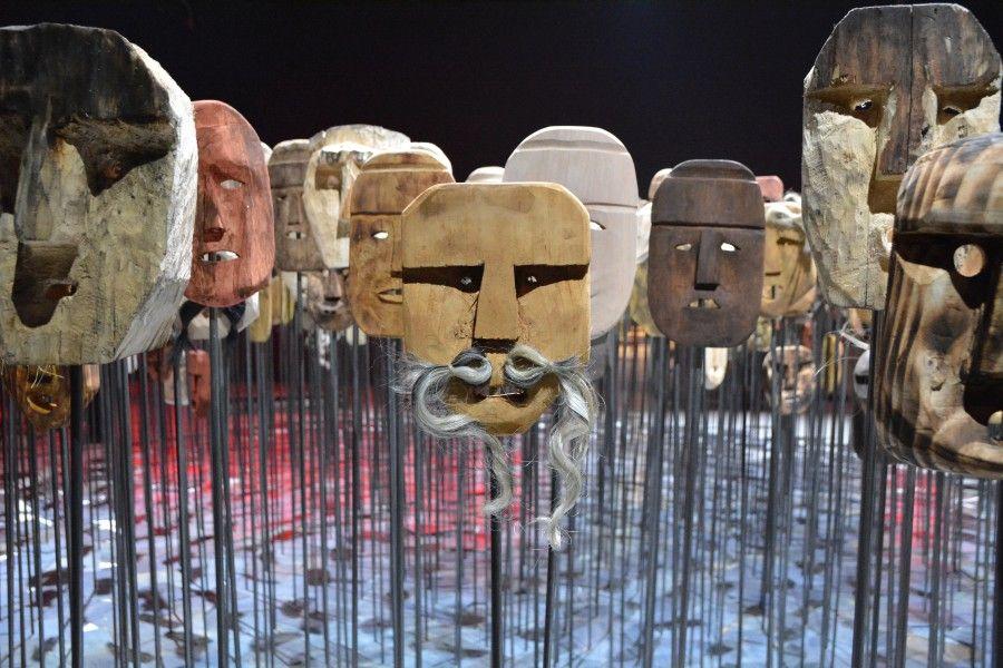 Werken, de Bernardo Oyarzún, 2017. Vista del Pabellón de Chile en la 57° Bienal de Venecia. Foto: Daniela Aravena Jordán
