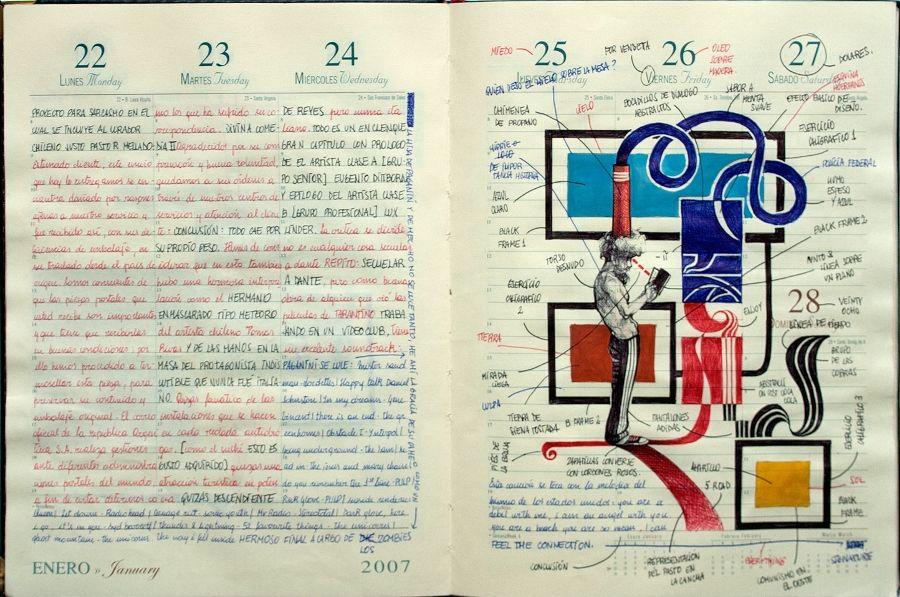 Diego Lorenzini. Parte de la exposición Haciendo días, en el Centex, Valparaíso. Cortesía del artista