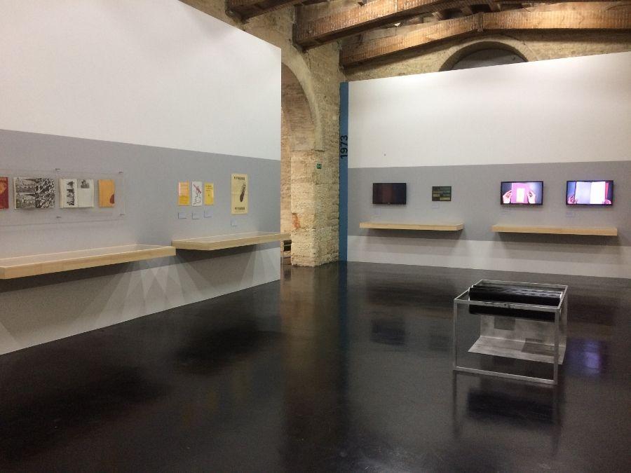 Vista de la exposición de Beau Geste Press en el CAPC, 2017. Foto: Alejandra Villasmil