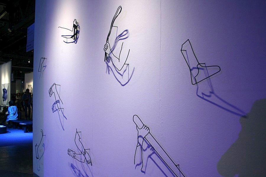 Andrés Pereira Paz en Nube Gallery, Santa Cruz de la Sierra, Bolivia. Parte de la sección Solo Show Zurich de la feria arteBA 2017. Foto: Alejandra Villasmil