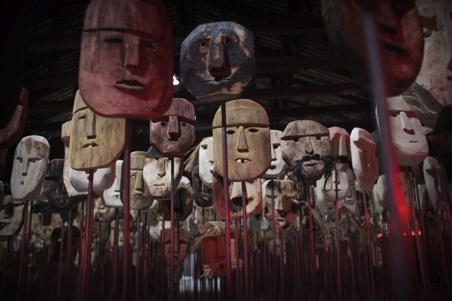 Bernardo Oyarzún, Werken.  Chile pavilhão na 57ª Bienal de Veneza de 2017. Foto: Italo Rondinella.  Cortesia: La Biennale di Venezia