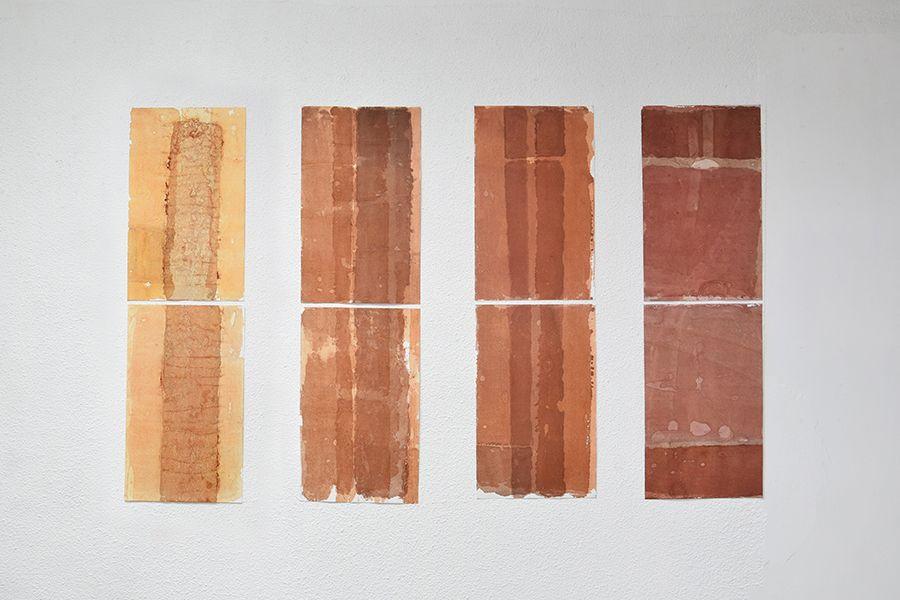Distorsiones (2017) de Sandra Monterroso, en Distorsiones e Imperfecciones en The 9.99 Gallery, Ciudad de Guatemala. Foto: cortesía de la galería.