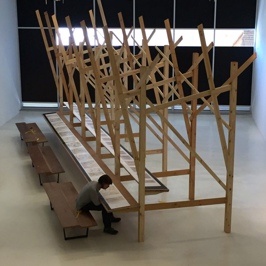 """Exposición """"La invención de un mar: Amereida 1965-2017"""", en el Parque Cultural de Valparaíso, Chile. (7 abril-28 de mayo, 2017). Foto: © Corporación Cultural Amereida"""