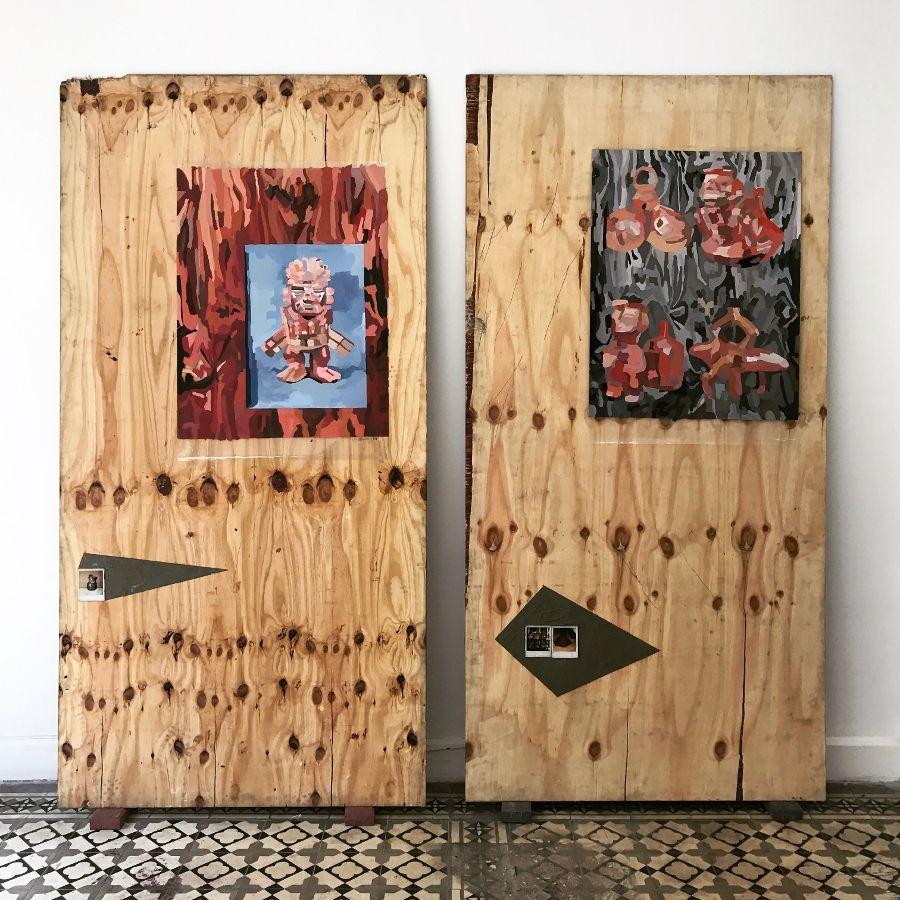"""Emilio Vargas Vera. Vista de la exposición """"Tokio Ya No Nos Quiere"""", Tokio Galería, Callao, Perú, 2017. Foto cortesía de la galería"""