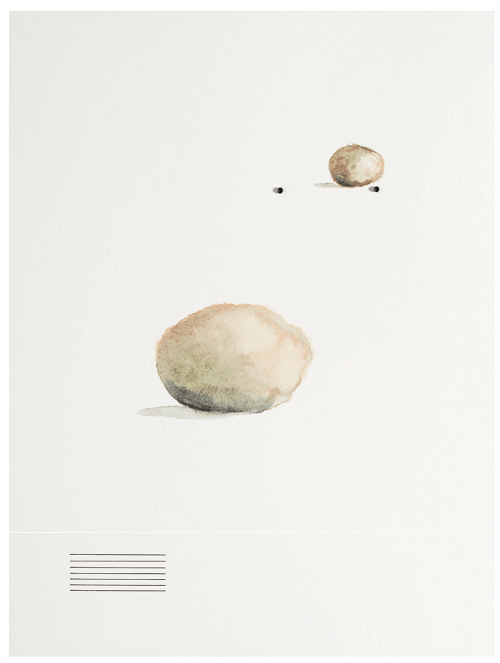 Waltercio Caldas, Sin título, 2015, acuarela, tinta china y alfileres sobre papel. Cortesía: CBP