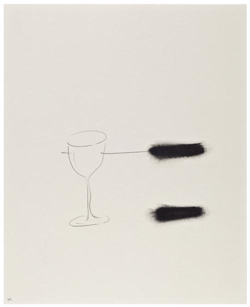 Waltercio Caldas, Sin título, 2008, grafito y carbón sobre papel, 27.7 x 22.3 cm. Cortesía: CBP