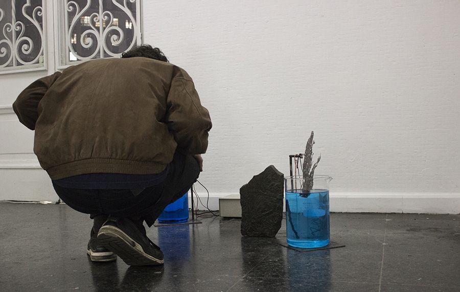 Instalación de Gabriele Dini en open studio tras su paso por el programa de residencias Molten Capital, en MAC Quinta Normal, Santiago de Chile. Foto: Bárbara Martínez, cortesía Molten Capital.