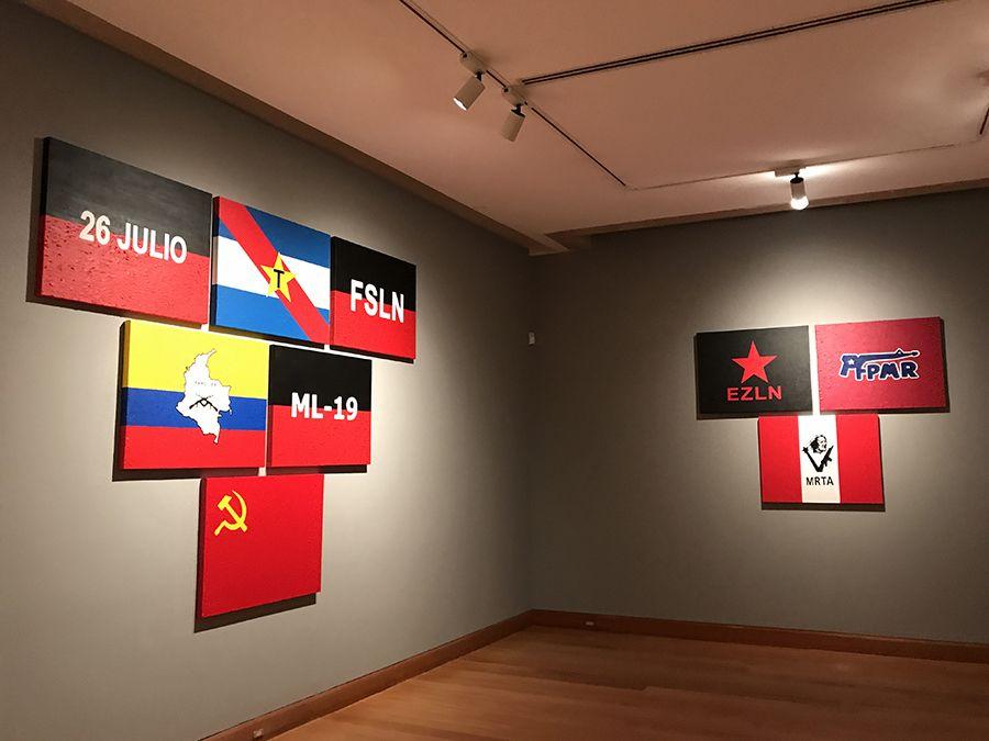 Vista de la exposición El Fantasma de la Utopía de Arturo Duclos, en el Museo de Artes Visuales de Santiago, Chile. Foto: cortesía MAVI.