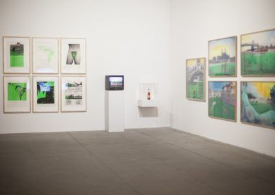 Nicolás García Uriburu, obras de 1968-1973 en la Esposizione Internazionale d'Arte - La Biennale di Venezia, Viva Arte Viva. Foto: Italo Rondinella. Cortesía: La Biennale di Venezia