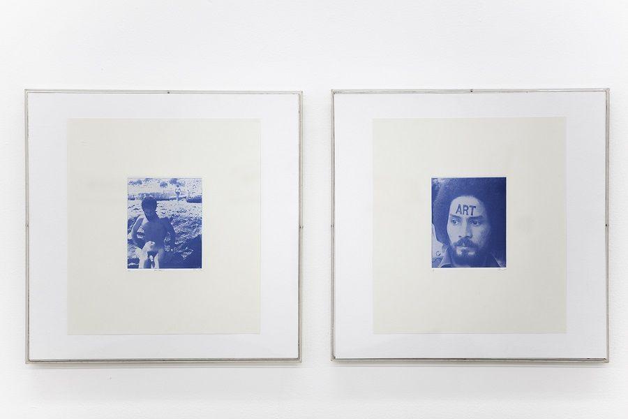 Pedro Terán, ART (autorretrato) y Animus, 1972, ambas: fotograbado azul. 45,5 x 46, 5 cm. Cortesía: ABRA Caracas