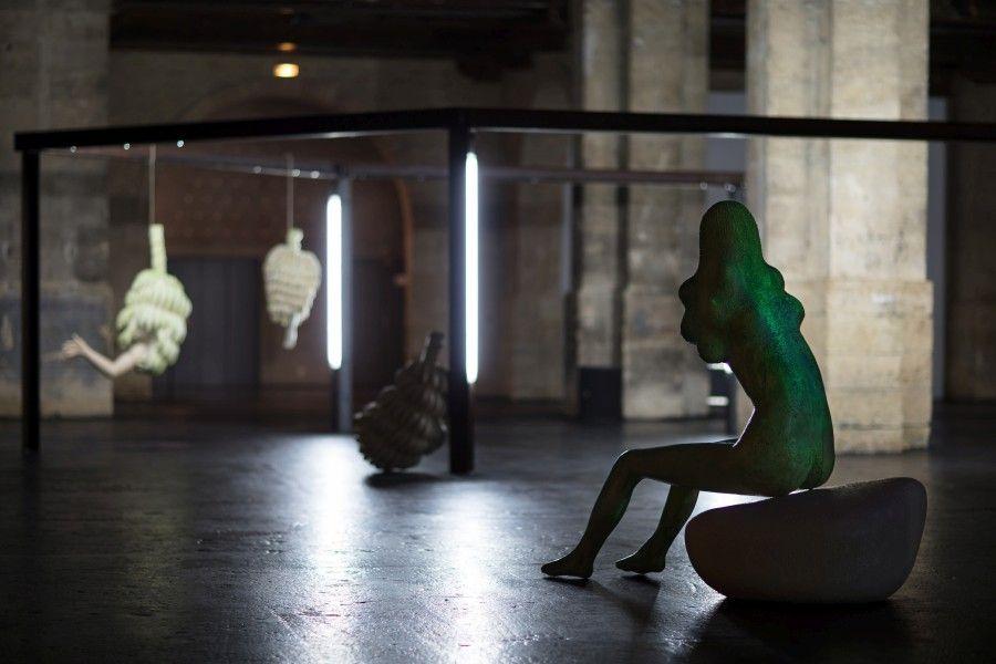 Naufus Ramírez-Figueroa, Linnæus in Tenebris, 2017. Vista de la exposición en el CAPC musée d'art contemporain de Bordeaux. Foto: Arthur Pequin