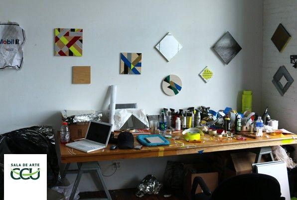 El taller de Raimundo Edwards en el ISCP, Nueva York. Cortesía: CCU en el Arte