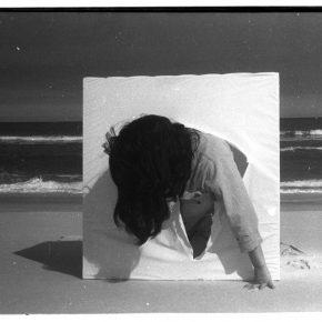 Lygia Pape (Brazilian, 1927–2004) O ovo (The Egg) 1967 Performance at Barra da Tijuca beach, Rio de Janeiro Gelatin silver print Photo by Maurício Cirne © Projeto Lygia Pape