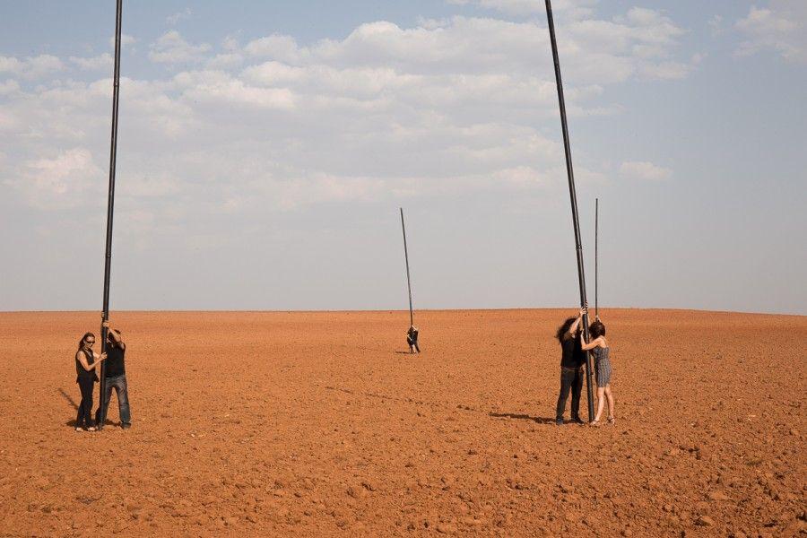 """Vista de la intervención """"Geopolíticas del Cuerpo"""", de Miguel Braceli. Villanueva de los Infantes, Castilla-La Mancha, España, 2017. Foto cortesía del artista"""