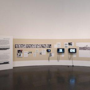 """Vista de la exposición """"Forensic Architecture. Hacia una estética investigativa"""", en el MACBA, Barcelona, 2017. Foto: Miquel Coll"""