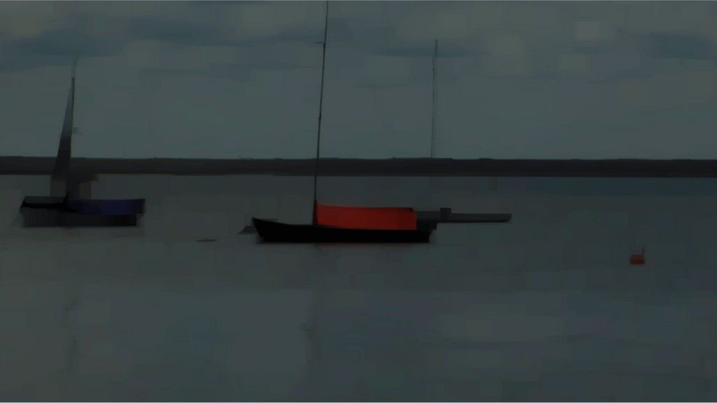 Passage at Bellport Harbor, 2010, video, Peter Campus (Estados Unidos, 1937)