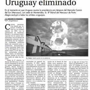 no hay artistas uruguayos en la 8va Bienal de Mercosur