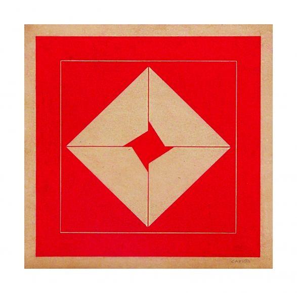 Aluísio Carvão, Sin título, c. 1950, gouache sobre cartón, 29.5 x 30 cm. Cortesía: Galerie Lelong