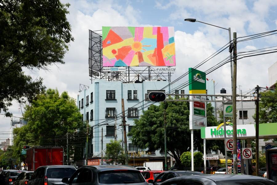 """Etel Adnan, vista de la instalación de """"The New Sun of the Aztecs"""", Sonora 128, Ciudad de México, 2017. Cortesía de la artista y kurimanzutto, Ciudad de México. Foto: PJ Rountree"""