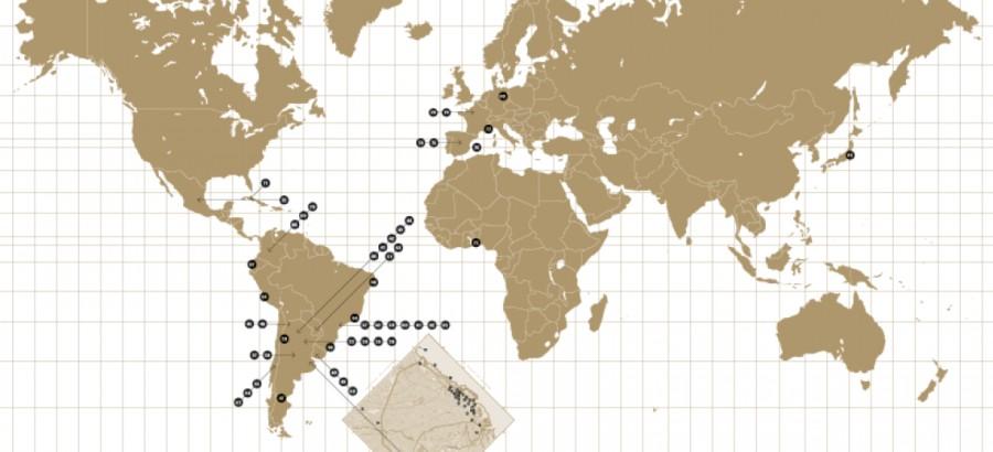 Cartografía BIENALSUR. Cortesía: BIENALSUR