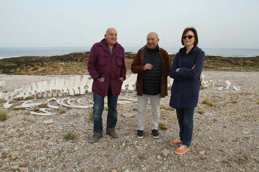 Aníbal Jozami, Christian Boltanski y Diana Wechsler. Cortesía: BIENALSUR