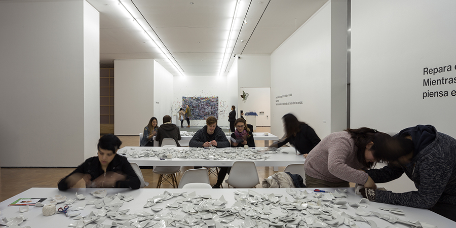 Mend Piece (1966-2017), parte de la muestra Dream Come True de Yoko Ono en CorpArtes, Santiago de Chile. Foto: Felipe Ugalde, para Artishock.