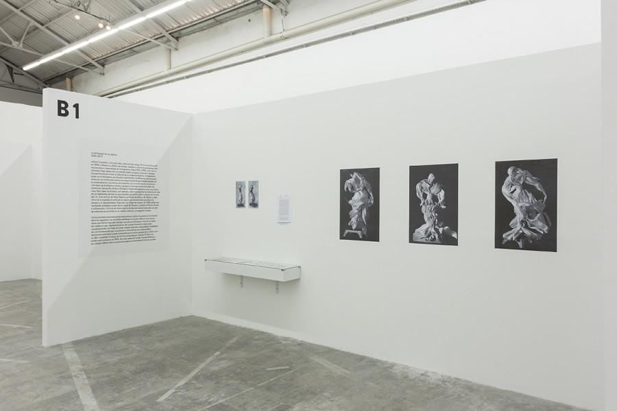 """Vista de la exposición """"Nuevos pensamientos imbéciles"""", de Martín Legón, en Barro, Buenos Aires, 2017. Foto cortesía del artista y la galería"""