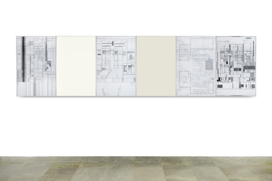 """Vista de la exposición """"El sentido del orden"""", de Luisa Granifo, en Galería NAC, Santiago de Chile, 2017. Cortesía de la artista y de la galería"""