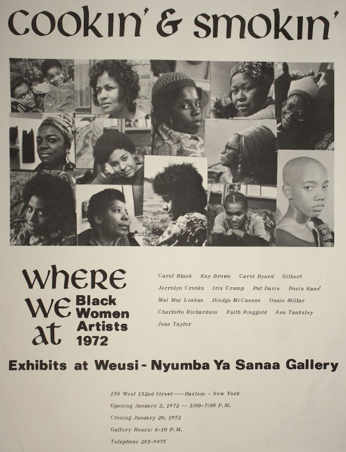 Where We At Collective, Cookin' and Smokin', 1972, póster impreso en offset, 35 × 27 cm. Colección de David Lusenhop. Foto cortesía de Dindga McCannon Archives, Filadelfia © Dindga McCannon. (Foto: David Lusenhop)