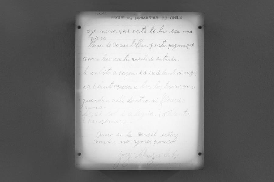 23 Abril 1963, parte de la muestra Primeras Letras de Nicolás Franco en el Museo de Arte Contemporáneo de Lima, Perú. Foto: cortesía del museo.