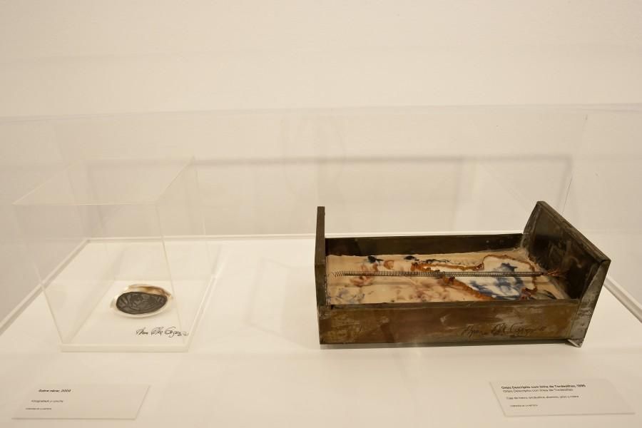 """Vista de la exposición """"Anna Bella Geiger. Geografía física y humana"""", en La Casa Encendida, Madrid, 2017. Cortesía: LCE"""