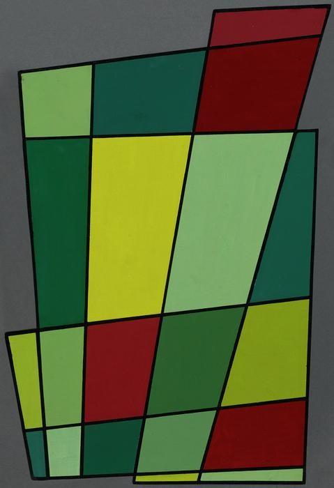 Juan Nicolás Melé (Argentina, 1923-2012), Marco recortado N°2, 1946, óleo sobre cartón, 71,1 x 50,2 x 2,4 cm (son marco). Colección Patricia Phelps de Cisneros. Regalo prometido al Museo de Arte Moderno de Nueva York, a través del Fondo Latinoamericano y del Caribe