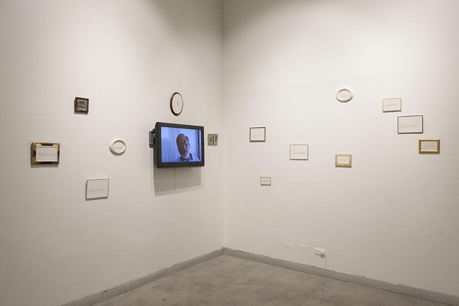 Pieza de Julio Castillo en la muestra Cantos de Tarapacá, en el Centro Cultural de España en Santiago de Chile. Foto: Josefina López