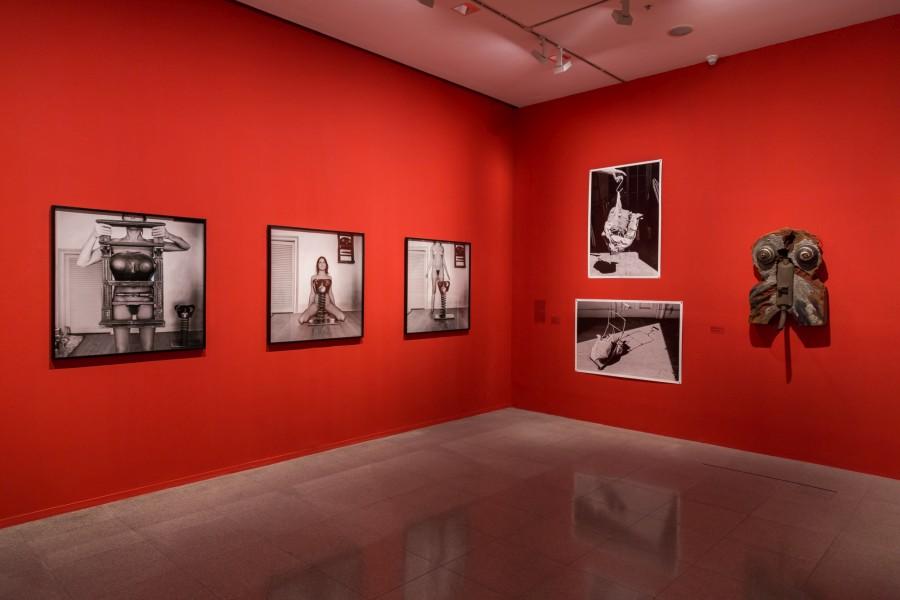 Vista de la muestra Liliana Maresca: El Ojo Avizor. Obras 1982-1994 de la artista Liliana Maresca en el Museo de Arte Moderno de Buenos Aires, Argentina. Foto: cortesía MAMBA.