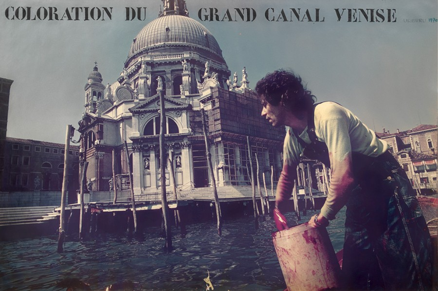 Nicolás García Uriburu, Le Geste - Coloration Du Grand Canale - Venise, 1970. Cortesía: The Getty