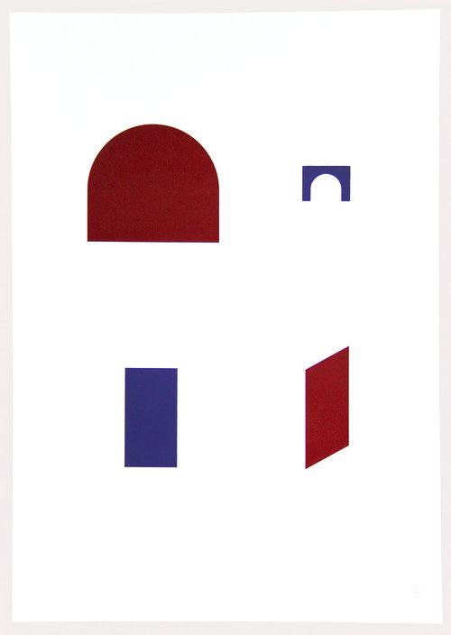 Alejandra Valenzuela, In/Out, 2016, serigrafÍa a dos colores. Edición de 7, 50 x 70 cm. Cortesía de la artista