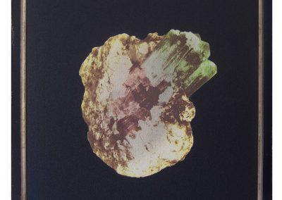 Maite Zabala, Sin título, 2014, emulsión fotográfica (goma bicromatada) sobre papel lija negro, 38 x 43.5 cms c/u (c/marco)
