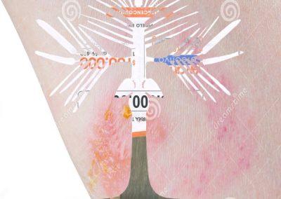 Patricia Domínguez, Herbario corporativo / soñé@cerámicas.cl, 2017, impresión inkjet sobre papel algodón, 17 x 17 cm c/u. Serie de cuatro imágenes por edición. Seis ediciones
