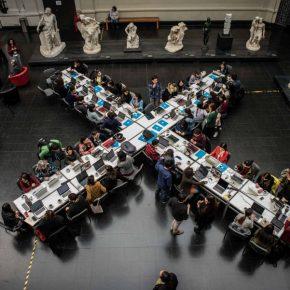 Editatón de Mujeres Artistas para Wikipedia, en el Museo Nacional de Bellas Artes, 2017. Foto: Juan Ignacio Hernández/CNCA