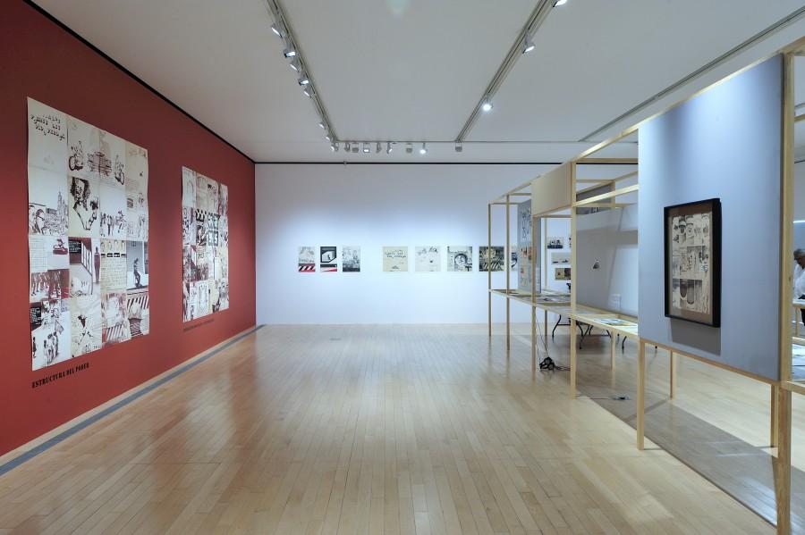 Vista de la muestra Grupo Mira. Una contrahistoria de los setenta en México, en el Museo Amparo, Puebla, México. Foto: cortesía del museo.