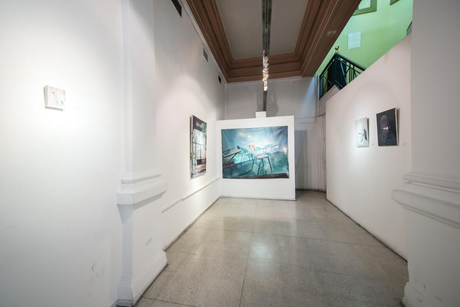 """Vista de la exposición """"Reforma / Ausencia"""", de Cristián Osorio, en Galería BECH, Santiago de Chile, 2017. Foto cortesía de BECH."""