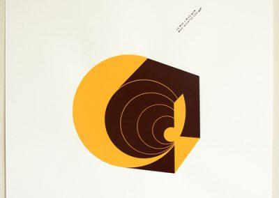 Alejandra Valenzuela, Dialéctica, 2014, serigrafía a dos colores, 45 x 60 cm. Edición de 5. Cortesía de la artista