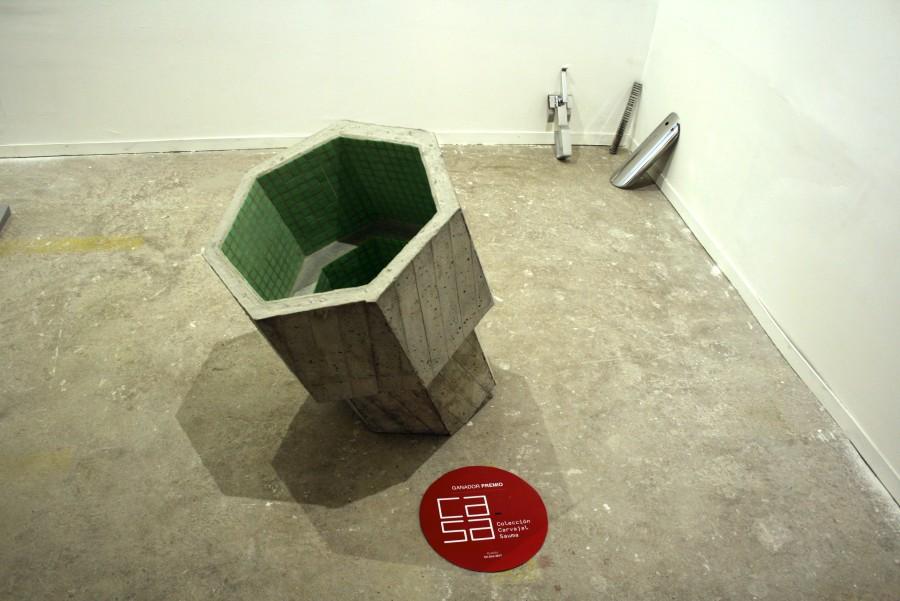 Jessica Briceño en Sagrada Mercancía (Chile). Premio Colección Ca.Sa, feria Ch.ACO 2017, sección Planta. Foto: Alejandra Villasmil