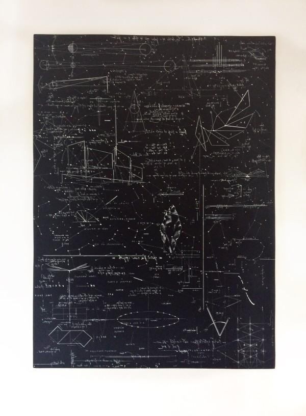 María Edwards, Puntos luminosos, 2017, aguafuerte sobre cobre/ Entintado Leucográfico, 103 x 76 cm. Edición Limitada