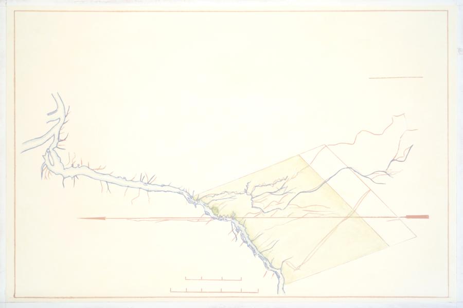 Melanie Smith, Mapa de Fordlandia circa 1930, 2016, óleo sobre MDF, 32 x 22 cm. En Proyecto Paralelo (México), sección Principal, Categoría 21m2. Cortesía: ARTBO 2017